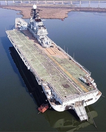 Abandoned aircraft carrier