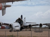 Abandoned airplane in Arizona boneyard