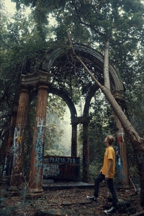 Abandoned Altar In The Woods