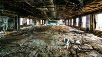 Abandoned American Motors Corporation HQ building in Detroit
