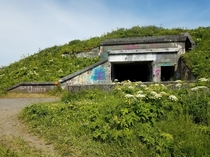 Abandoned Ammunition Bunker for  Coastal Defence Guns at St Peters Head Chiniak Kodiak Island Alaska More Info in Comments  OC