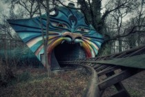 Abandoned amusement park Berlin Germany