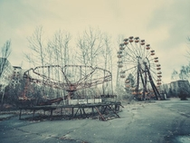 Abandoned amusement park in Ukraine Chernobyl exclusion zone