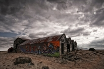 Abandoned and graffitied battle house in Iceland  by orsteinn H Ingibergsson