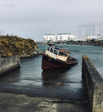 Abandoned and left to rust in the water - Wales