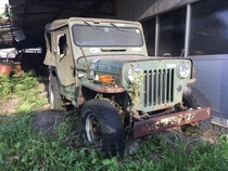 Abandoned and rusty Jeep J Japan