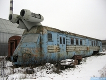 Abandoned and Rusty Soviet Turbo Jet Train