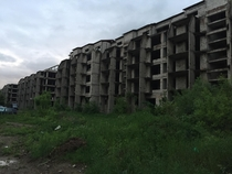 Abandoned apartment block from socialist era in Romania Unadvertised feature view from my BNB