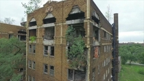 Abandoned Apartment reclaimed by nature Gary Indiana x Retrieved from ABC  Chicago
