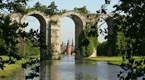 Abandoned aqueducts at Chateau de Maintenon France
