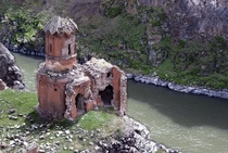 Abandoned Armenian church in Eastern Turkey Ani