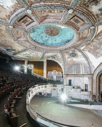 Abandoned art deco theater US