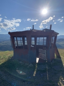 Abandoned artillery observatory Before technology was advanced enough army artillerymen needed to use line of sight to call out where strikes needed to be adjusted