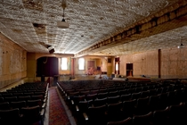 Abandoned auditorium under the Sharon Springs Masonic Temple in Upstate NY