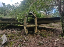Abandoned B- tail section Andersen Air Force Base Guam