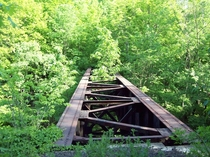Abandoned BampO RR bridge in Geauga County Ohio
