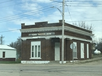 Abandoned bank in rural Iowa