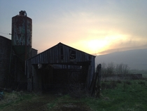 Abandoned barn at the next farm to us