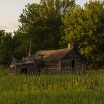 Abandoned Barn during sunset