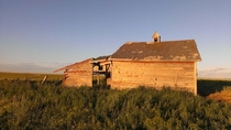 Abandoned barn in southern Alberta Canada