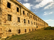 Abandoned barracks La Mola military base Menorca Spain