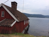 Abandoned bathing house close to my cabin outside Drammen Norway