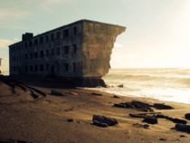Abandoned beach house Kamchatka Russia