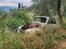 Abandoned Beetle in the mountains of Italy