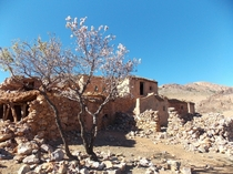 Abandoned berber village at the top of a mountain southern Morocco