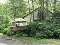 Abandoned Boat and House in Ketchikan AK