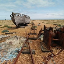 Abandoned boat in Dungeness UK