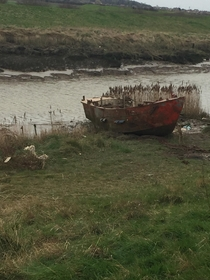 Abandoned boat on the River Humber  Paull  East Yorkshire