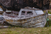 Abandoned Boat on the shores of Iceland