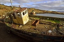 Abandoned boat West Cork Ireland
