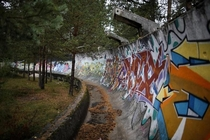 Abandoned Bobsled Track from the  Olympics in Sarajevo