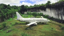 Abandoned Boeing  located in South Kuta