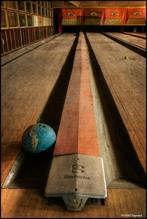Abandoned bowling alley in upstate New York