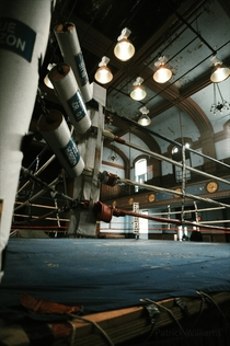 Abandoned boxing ring