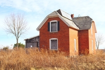 Abandoned brick home near Port Huron Michigan