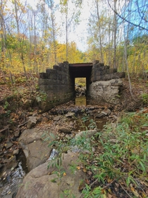 Abandoned bridge and one of the few remnants remaining of Instanter Pennsylvania