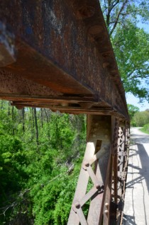 Abandoned Bridge on the back roads of Douglas County Kansas