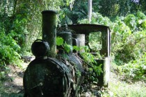 Abandoned British Owned Gold Mine Locomotive Darien Gap Panama