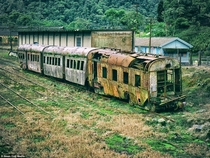 Abandoned British owned railway station in Paranapiacaba Brazil