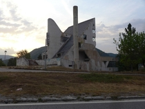 Abandoned brutalist motel I found in Bosnia