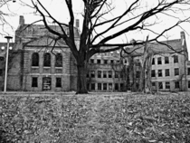 Abandoned building at Norristown State Hospital a Victorian era asylum  OC