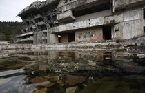 Abandoned Building From Sarajevos  Olympic Games