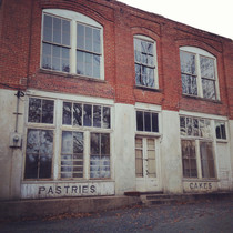 Abandoned building in an old mill village and also the film set for District  in the Hunger Games