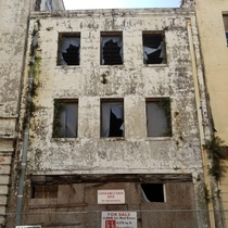 Abandoned building in downtown Mobile Alabama