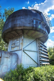Abandoned Building on The Territory of an Astronomical Observatory omplex at Pulkovo Leningrad region Russia
