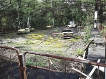 Abandoned bumper cars - Chernobyl
